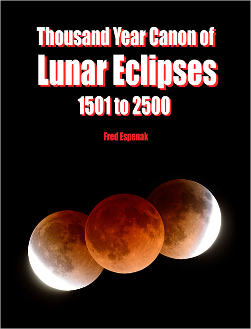 The cover of the Thousand Year Canon of Lunar Eclipses.