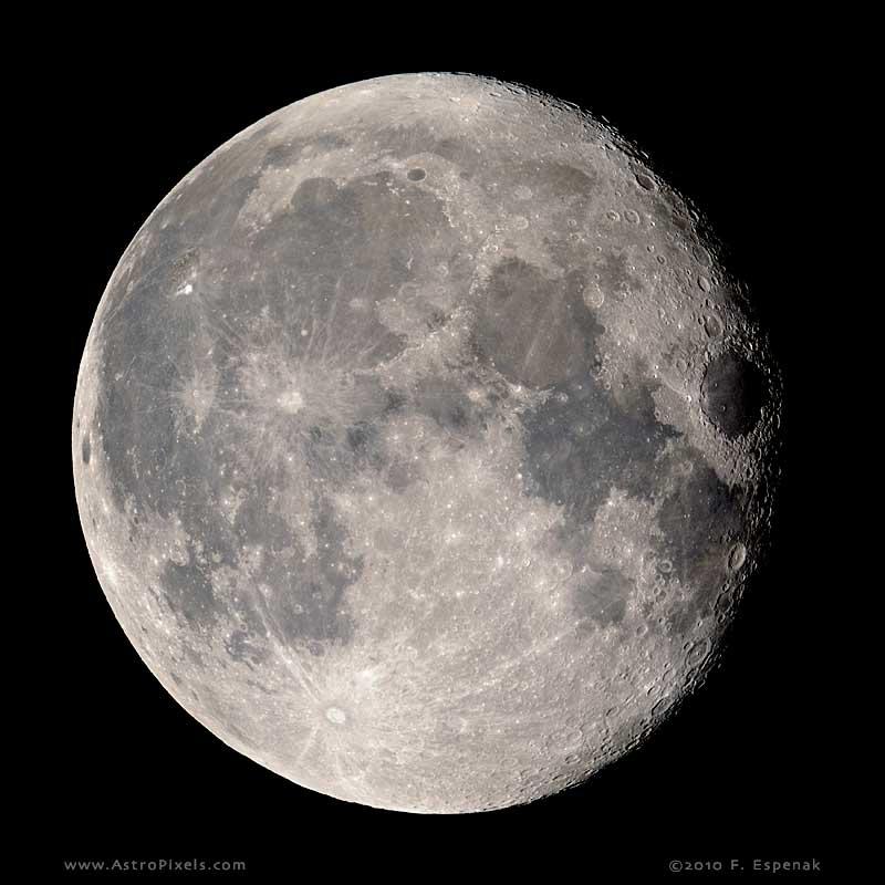 Gibbous Moon - 16.2 days Waning Gibbous Moon Phase
