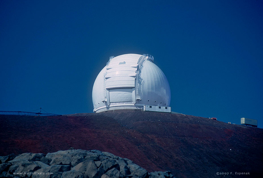 W. M. Keck Observatory Dome in Moonlight