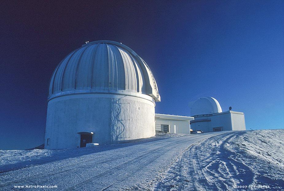 Snowy Morning at United Kingdom Infrared Telescope (UKIRT)